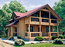 Дом из оцилиндрованного бревна. Проект: Марьина Роща